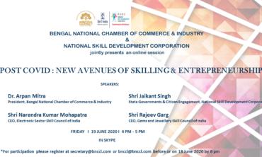 Post Covid : New Avenues of Skilling and Entrepreneurship