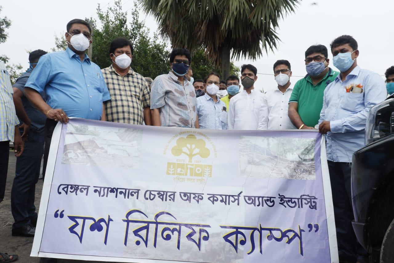 BNCCI Yaas Relief Camp at Katakhali Village under Mallickpur Gram Panchayat, Falta